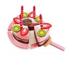 Hape Tarta de cumpleaños de juguete con 2 sabores E3140