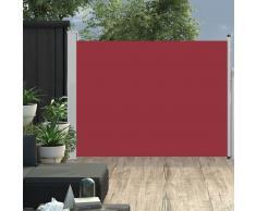 vidaXL Toldo lateral retráctil de jardín rojo 140x500 cm
