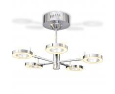 vidaXL Lámpara de techo colgante con 5 luces LED redondas