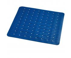 RIDDER Alfombrilla de baño antideslizante Playa 54x54 cm azul 68403