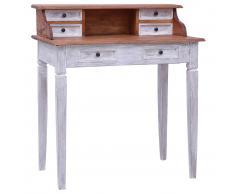 vidaXL Escritorio con cajones de madera maciza reciclada 90x50x101 cm