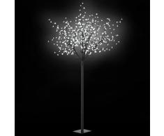 vidaXL Árbol de Navidad de interior y exterior LED IP44 250cm blanco