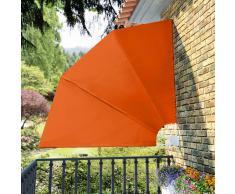 vidaXL Toldo lateral plegable para el patio, 210 x 210 cm, terracota