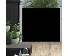 vidaXL Toldo lateral retráctil de jardín negro 100x300 cm