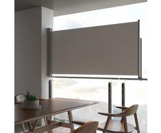 vidaXL Toldo lateral retráctil para patio 120x300 cm gris
