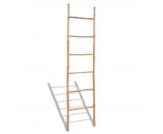 vidaXL Toallero de bambú en escalera con 6 peldaños