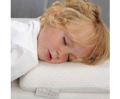 CuddleCo Almohada para niños pequeños viscoelástica bambú crema