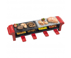 Bestron raclette grill con 4 sartenes 800W ARG400 (Roja)