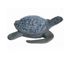 Velda Estatua de jardín tortuga marina mosaico poliresina 850966