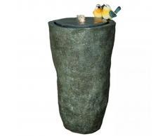 Velda Fuente de jardín jarrón alto con pájaros gris 850848