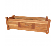 vidaXL Jardinera de madera acacia 76x27,6x25 cm