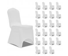vidaXL Funda de silla elástica color crema 24 unidades