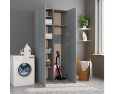 vidaXL Armario de almacenamiento aglomerado gris 80x35,5x180 cm
