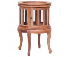 vidaXL Armario vitrina de madera maciza de caoba natural 50x50x76 cm