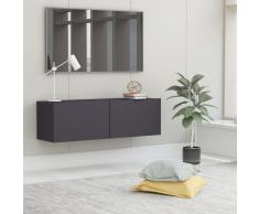 vidaXL Mueble para TV de aglomerado gris 100x30x30 cm
