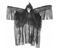 Decoración para colgar ángel negro esquelético Halloween Única