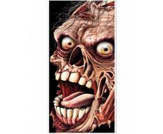 Decoración puerta zombie Halloween Única