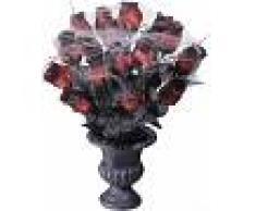 Ramo rosas rojas telaraña 35 cm Halloween Talla única