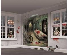 Kit de decoración mural Halloween Única