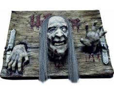 Decoración placa Welcome zombie Halloween Única