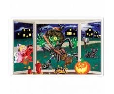 Decoración mural bruja aplastada Halloween Única