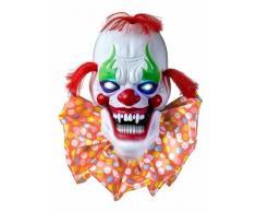 Decoración luminosa y sonora payaso terrorífico 58 cm Halloween Única