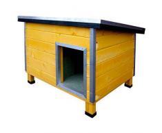TK Pet Caseta robusta de madera para perros Nevada Amarilla
