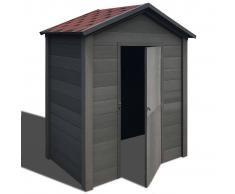 vidaXL Caseta de almacenamiento jardín WPC 178x118x237 cm gris