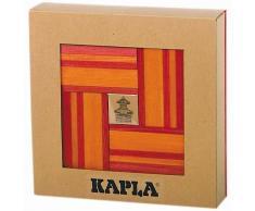Kapla Set de 40 tablones madera rojo y naranja KAPL172106