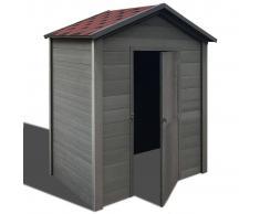 vidaXL Caseta de almacenamiento jardín WPC 188x188x264 cm gris