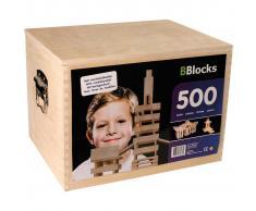 BBlocks Tablones de construcción 500 piezas madera marrón BBLO890201