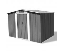 vidaXL Caseta de jardín metal 257x205x178 cm gris