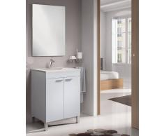 Dekorcasa Mueble Lavabo 60 Cm 2 Puertas + Espejo + Lavabo