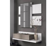 Dekorcasa Recibidor 1 Cajon + Espejo Blanco/fresno