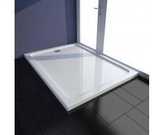 vidaXL Plato de ducha rectangular ABS, color blanco, 80 x 110 cm