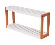 vidaXL Estantería de baño 60x15x28,5 cm bambú