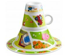 HABA Set de vajilla desayuno para niños On the Farm 4 uds 302062