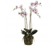 Emerald Orquídea artificial con musgo rosa claro 419149