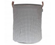 Sealskin Cesto para la ropa sucia Speckles gris 60 L 361892012