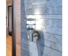 vidaXL Aplique de pared acero inoxidable, para jardín