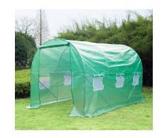 Outsunny Invernadero Caseta Nuevo Verde Acero Plastico 350 x 200 x 200cm