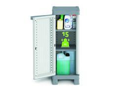 Armario resina muy resistente, para exterior, de 1 puerta con 2 estantes regulables - 35 x 43,8 x 97,6 cm