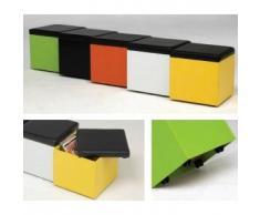 Kit Closet Kubox - Puf revistero, color blanco