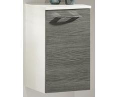 35,5 x 59 cm Armario vadea Color (estructura): Blanco, color (frontal): pino Antracita