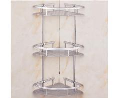 Ducha Esquina estante ounona tres capa estantería esquinera de ducha organizador