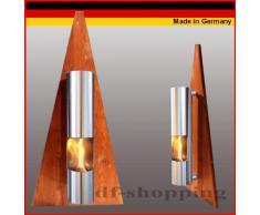 Gel y Etanol Chimenea modelo Pyramide Marrón