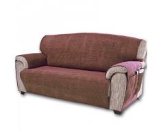 Comptoir du Linge paula2plmarron - Manta para el sofá, varios materiales, color marrón