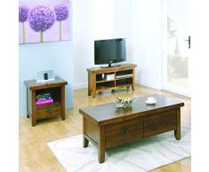 The One Bali Acacia Madera Maciza – Mueble de Esquina para televisor Plasma TV gabinete – Acabado: marrón Rico – Muebles de salón