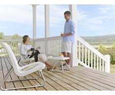 Keter - Conjunto de terraza o balcón Río. Color blanco