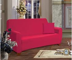 Elegante Comfort Muebles Jersey Stretch Slipcover, Microfibra, rubí, Sofa